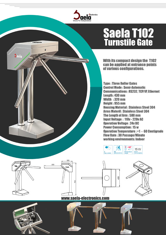 Turnstile gate Saela T102