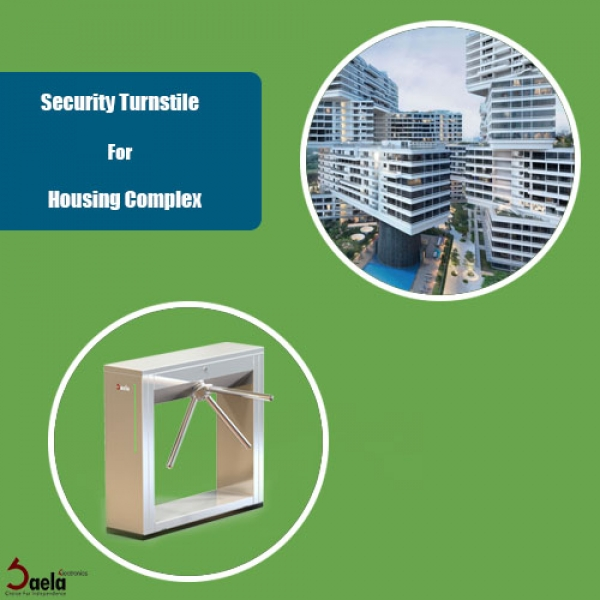 Security turnstile for housing complex